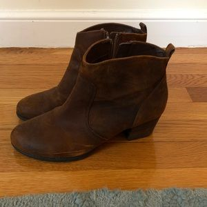 Distressed Franco Sarto Booties. Size 8.
